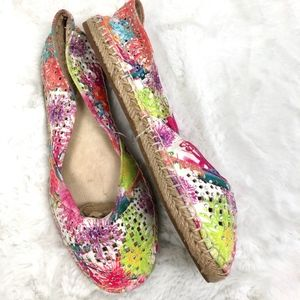 Gianni Bini Womens Shoes Multi Colorful Slip On